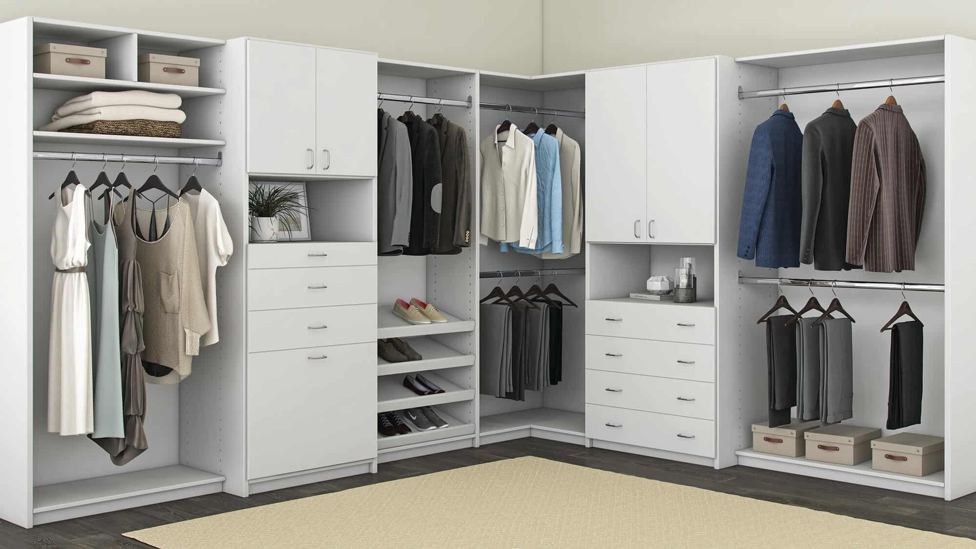 closets design your own closet with custom closets. Black Bedroom Furniture Sets. Home Design Ideas