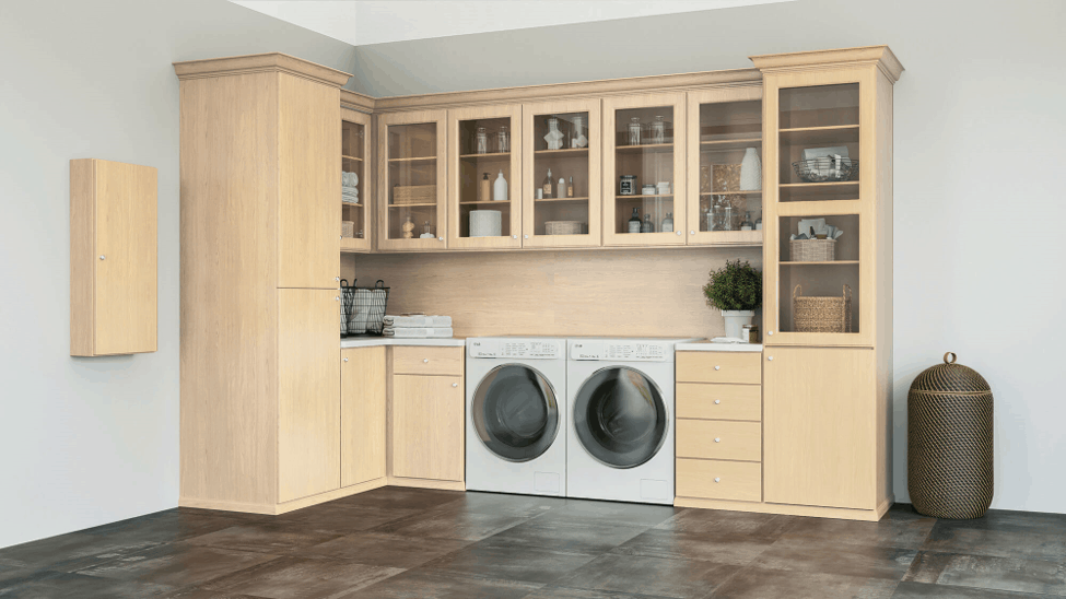 A custom laundry room from Closets by Design.