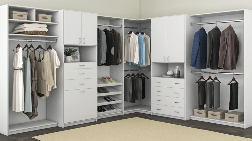 Everyday Closets collection in white.