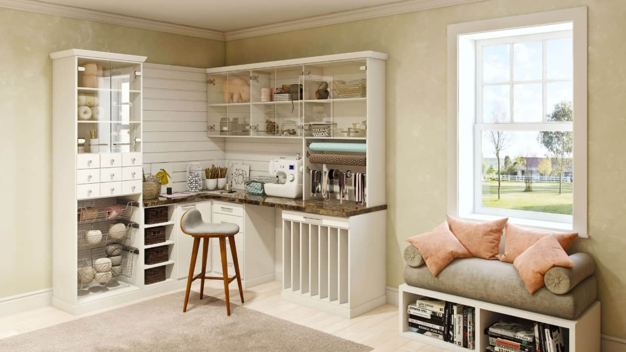 A hobby room by Closets by Design.